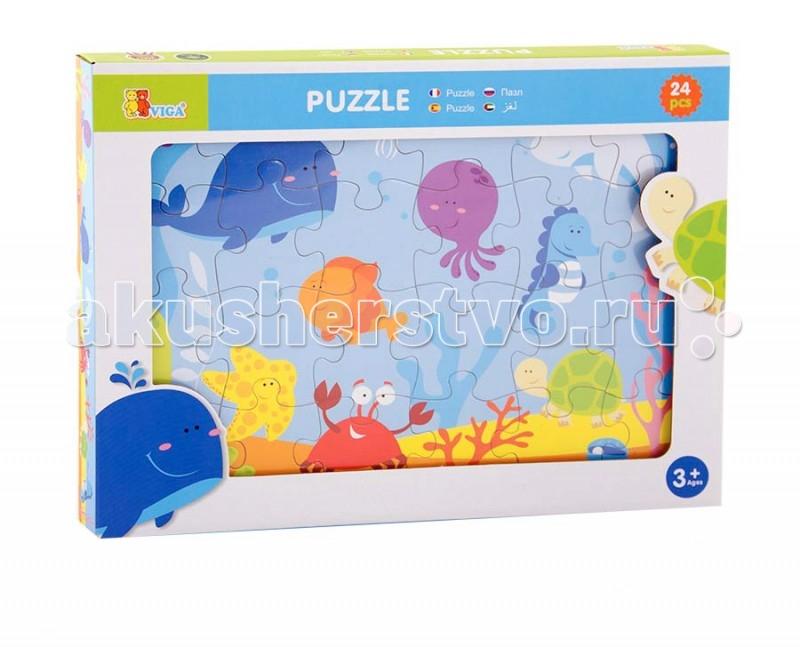 Деревянная игрушка Viga Пазл Океан 24 элементаПазл Океан 24 элементаViga Пазл Океан - это занимательная игрушка, которая никогда не наскучит вашему чаду. Детали пазла изготовлены из прочного дерева, поэтому они плотно прилегают друг к другу, и не требуют дополнительной фиксации. Игра развивает мелкую моторику, цветовосприятие, усидчивость, улучшает наблюдательность и способность концентрировать внимание.<br>