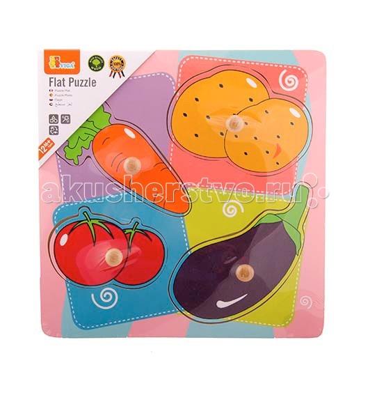 Деревянная игрушка Viga Рамка-вкладыш ОвощРамка-вкладыш ОвощViga Рамка-вкладыш Овощи с красочными съемными деталями представляет собой занимательную развивающую игру – вкладывание фигурных деталей в рамку с соответствующими выемками.   вынимаемые детали с удобными для детских пальчиков пластиковыми ручками детали свободно размещаются на своих местах – даже маленький кроха быстро научится вкладывать их   Игра развивает логическое мышление, моторику, координацию движений, знакомит с окружающим миром.  Материал - дерево.  К сожалению, многие малыши зачастую страдают от аллергии. Причем не только от пищевой, но и от так называемой «бытовой». Негативную реакцию могут вызвать и разного рода токсины, которые многие производители используют в своих изделиях. Но развивающие игрушки из дерева «Вудик» никогда не спровоцируют аллергию, поскольку они созданы только из природных материалов.  Яркие и занимательные, игрушки Viga отличаются такими достоинствами, как: полная безопасность для ребенка гиппоаллергенность реализация творческого потенциала малыша стимулирование логического мышления развитие фантазии тренировка мелкой моторики и координации<br>