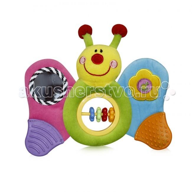 Развивающая игрушка Bertoni (Lorelli) Музыкальная БабочкаМузыкальная БабочкаИгрушка музыкальная.   Размеры: 25х23 см.   На крыльях прорезыватели, безопасное зеркало и встроенное музыкальное устройство.   В голове пищалка.<br>