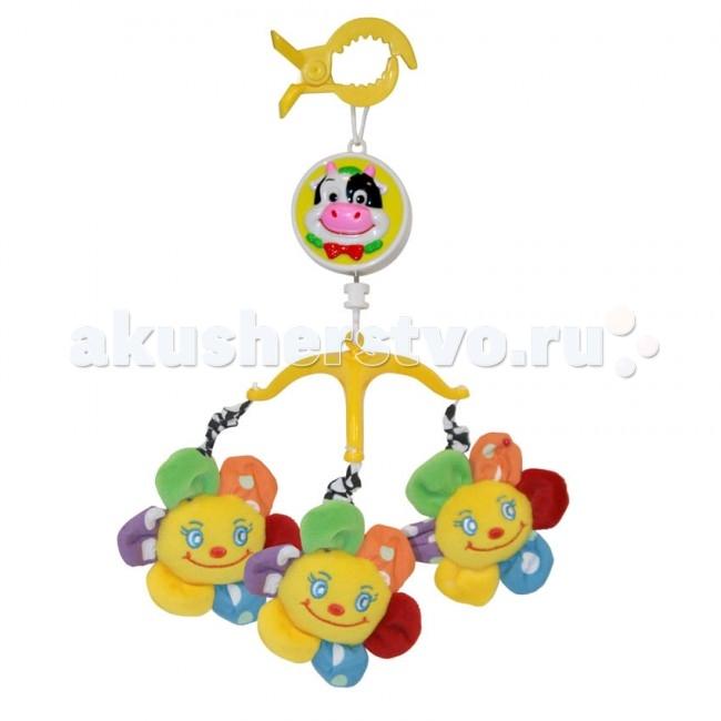 Мобиль Bertoni (Lorelli) музыкальный Цветочек (плюшевый)музыкальный Цветочек (плюшевый)Мобиль Цветочек (плюшевый) - это яркая музыкальная каруселька на кроватку, с которой малыш никогда не будет скучать. Симпатичные игрушки, медленное вращение игрушек, приятная музыка - вот отличительные черты этой игрушки.  Особенности: музыкальное сопровождение карусельки ребенок учится следить за подвесными игрушками у малыша активно и в максимально естественной форме развивается зрение кроха получает представление о пространственном положении предметов музыкальное сопровождение развивает слух ребенка разно-фактурные элементы помогут развить мелкую моторику и сенсорику<br>