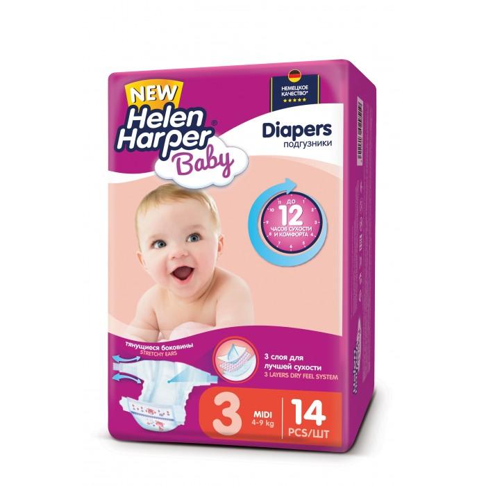 Helen Harper Подгузники Baby Midi (4-9 кг) 14 шт.