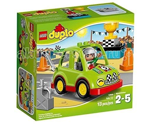 Конструктор Lego Duplo 10589 Лего Дупло Гоночный автомобильDuplo 10589 Лего Дупло Гоночный автомобильКонструктор Lego Duplo 10589 Лего Дупло Гоночный автомобиль состоит из 13 деталей.  Садитесь за руль гоночного автомобиля LEGO DUPLO!  Проверьте исправность двигателя с помощью гаечного ключа.  Попрактикуйтесь, лавируя между конусами, и выиграйте приз в настоящих гонках!  В набор входит: 3фигурка водителя аксессуары - кубок, 2 конуса, гаечный ключ, канистра. Количество деталей: 13 шт.<br>