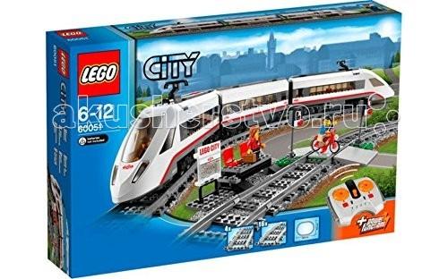 Конструктор Lego City 60051 Лего Город Скоростной пассажирский поездCity 60051 Лего Город Скоростной пассажирский поездКонструктор Lego City 60051 Лего Город Скоростной пассажирский поезд состоит из 610 деталей, включая 3 минифигурки и аксессуары.  Используй 8-канальное, 7-скоростное инфракрасное дистанционное управление для передвижения поезда LEGO City!  Проложи железнодорожный путь в любую часть города, снабди его регулируемым переездом для машин. Открой кабину локомотива, чтобы посадить туда машиниста. Прицепи вагончики и отправь скоростной поезд в путешествие! Не забудь остановиться на станции, чтобы забрать пассажиров!  В набор входит: скоростной локомотив с двумя вагонами Пульт дистанционного управления Сборная железнодорожная станция с картой Переезд со светофорами Комплект рельс – 16 изогнутых, 4 прямые 3 мини фигурки – машинист, путешественник, велосипедист Аксессуары – семафор, карта-схема путей. Особенности конструктора Lego City 60051: Поезд снабжен аккумуляторным блоком LEGO Power Functions, тяговым двигателем, приемником ИК-сигналов Всего 7 скоростей, поезд может двигаться вперед и назад Управление дистанционное – с помощью ИК пульта Крыша локомотива и пассажирского вагона открывается, туда можно посадить фигурки Лего.  Размеры станции: 7 х 19 х 13 см Размер поезда в сборе: 12 х 77 х 5 см Общая длина железнодорожного полотна: 255 см Для работы необходимо 9 ААА батареек (в комплект не входят).  Количество деталей: 610 шт.<br>