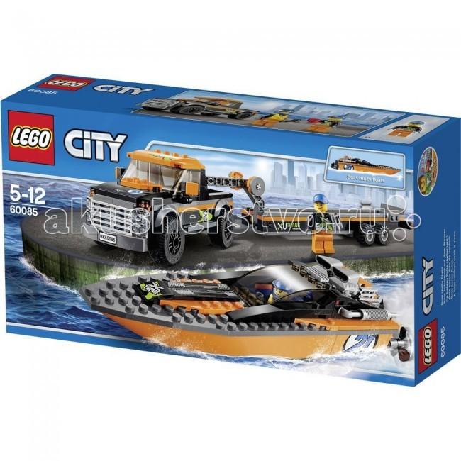 Конструктор Lego City 60085 Лего Город Внедорожник 4x4 с гоночным катером
