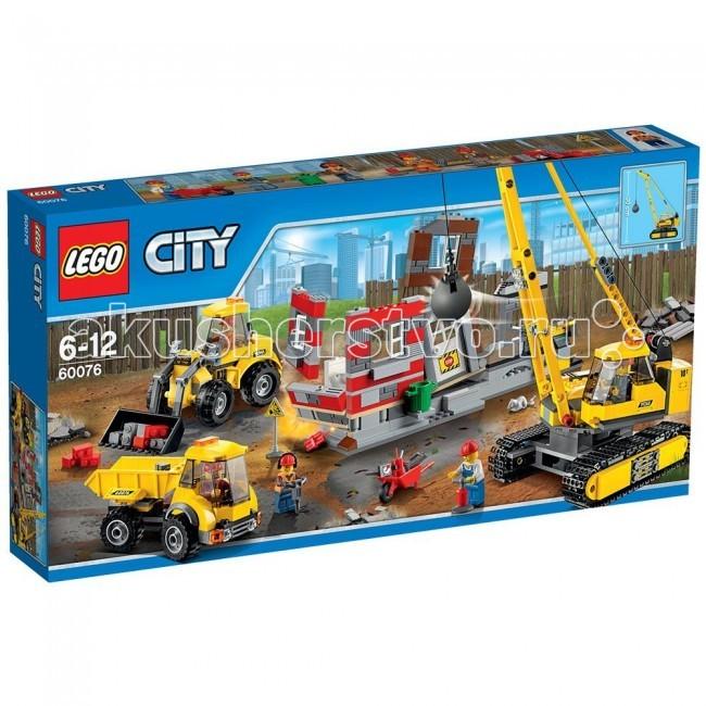 Конструктор Lego City 60076 Лего Город Снос старого зданияCity 60076 Лего Город Снос старого зданияКонструктор Lego City 60076 Лего Город Снос старого здания собирается из 776 деталей, включая 5 минифигурок.  Появилась большая работа!  Строители используют всю свою мощную технику для сноса ряда заброшенных домов, им нужна помощь. Забирайся на гигантский подъемный кран и управляй стрелой, раскачивая тяжелый шар!   Помоги специалисту по сносу заложить динамит и нажми на ручку детонатора... бух! Используй мощный ковшовый фронтальный погрузчик для вытягивания цепи! Когда пыль осядет, высыпи обломки в массивный самосвал. Вот это отличная бригада по сносу зданий!  В набор входит: 5 минифигурок рабочих подъемный кран с работающей стрелой и шаром грузовик погрузчик с подвижным ковшом полуразрушенное здание аксессуары: динамит, тачка, строительные инструменты и др.. Количество деталей: 776 шт.<br>