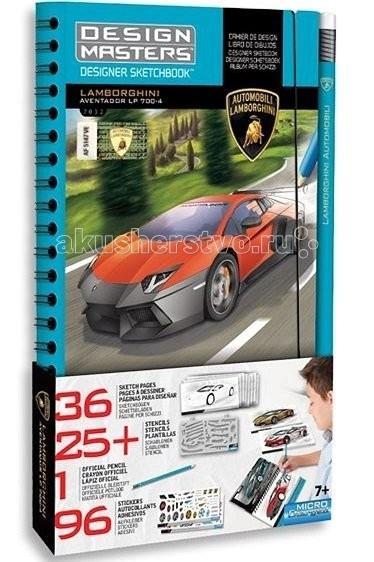 Wooky Design Masters Большой набор LamborghiniDesign Masters Большой набор LamborghiniWooky DESIGN MASTERS 7032 Большой набор Lamborghini.  Wooky Entertainment – это совершенный дизайн и всегда творческий подход. Их кредо – создавать передовые инновационные продукты, исходя из последних мировых тенденций. Wooky Europe является европейским партнером по маркетингу и дистрибуции всех брендов Wooky с офисами в Нидерландах, Великобритании и Германии.  Дорогие родители, ваш мальчик большой любитель машин легендарных марок и хочет научиться их рисовать с необычным тюнингом, тогда наш набор DESIGN MASTERS Lamborghini это то, что вам нужно. С его помощью ребенок сможет с легкостью разрабатывать и создавать собственные дизайны тачек.  С этим набором ребенку предстоит перенести на черновой эскиз машины различные детали машины с трафаретов, а затем раскрасить их и отдекорировать разнообразными наклейками.Этот набор для творчества обязательно понравится Вашему ребенку!  Все необходимое для тюнинга уже входит в комплект: 36 страниц с эскизами более 25 трафаретов иллюстрированные листы с идеями более 96 наклеек 1 карандаш.<br>