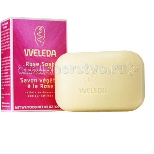 Weleda Растительное мыло розовое 100 гРастительное мыло розовое 100 гРастительное мыло Weleda розовое, 100гр очищает кожу и ухаживает за ней.   Изготавливается на базе натуральных растительных масел. Подлинные эфирные масла, включающие наиболее эффективное розовое масло, привносят в этот продукт утончённость и изысканность, а также приятный нежный аромат. Мыло Веледа хорошо очищает кожу, при этом воздействуя подобно лёгкому косметическому крему.  Состав: мыльная основа – пальмовое, кокосовое и оливковое масла; смесь натуральных эфирных масел; экстракт розы столистной.<br>