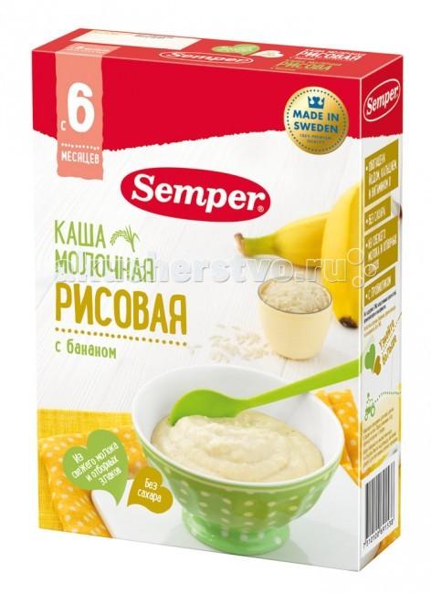 Semper Молочная рисовая каша с бананом с 6 мес. 200 г