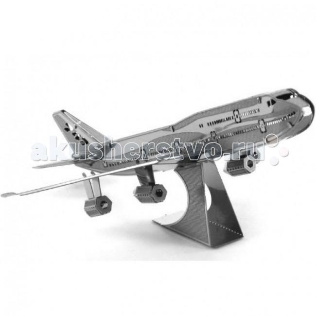 Конструктор Metalworks Сборная металлическая модель Коммерческий реактивный самолетСборная металлическая модель Коммерческий реактивный самолетСборная металлическая модель METALWORKS MMS004 Коммерческий реактивный самолет.  Сборная металлическая модель METALWORKS Коммерческий реактивный самолет позволит Вам и Вашему ребенку собрать объемную модель в виде крупнейшего авиалайнера.  В набор входят металлические элементы для сборки модели и подробная схема сборки. Все детали соединяются с помощью усиков, которые вставляются в соответствующие прорези. Собранная металлическая модель станет красивым дополнением к вашему домашнему интерьеру или оригинальным подарком для друзей и близких!  Модель для сборки развивает мелкую моторику, интеллектуальные способности, воображение и конструктивное мышление, тренирует терпение и усидчивость.  В набор входит: детали для сборки инструкция.<br>
