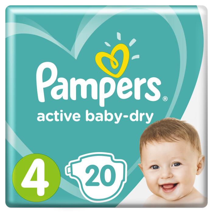 Pampers Подгузники Active Baby Стандарт р.4 (8-14 кг) 20 шт.