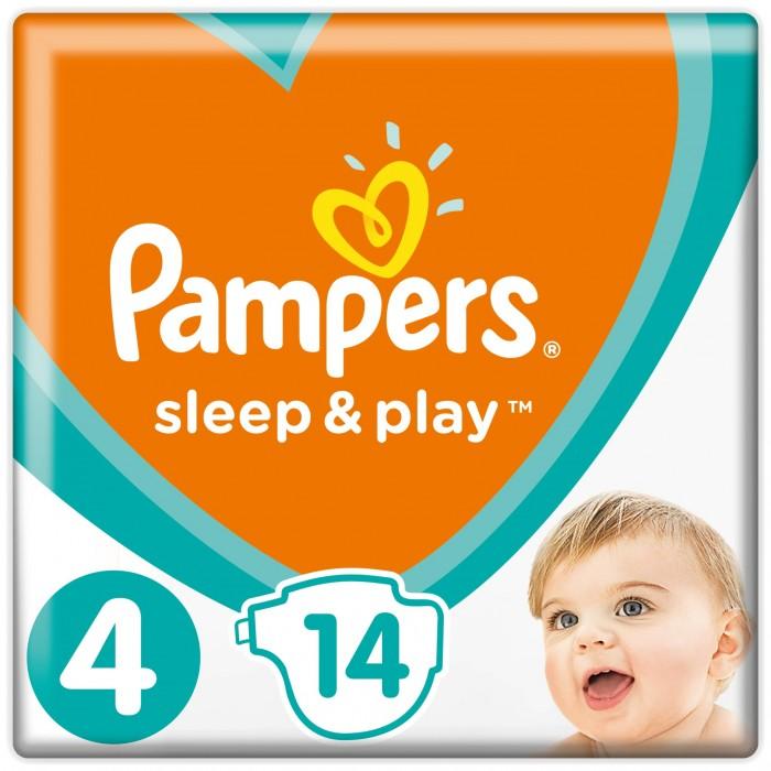 Pampers Подгузники Sleep & Play Стандарт р.4 (7-14 кг) 14 шт.