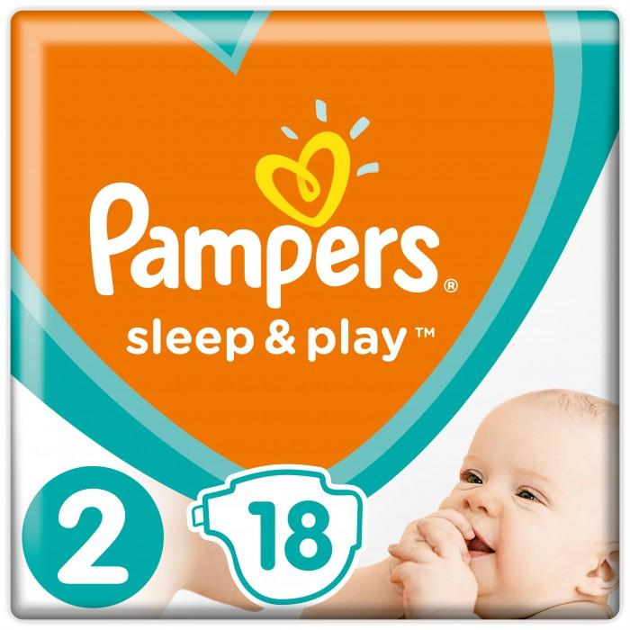 Pampers Подгузники Sleep & Play Стандарт р.2 (3-6 кг) 18 шт.
