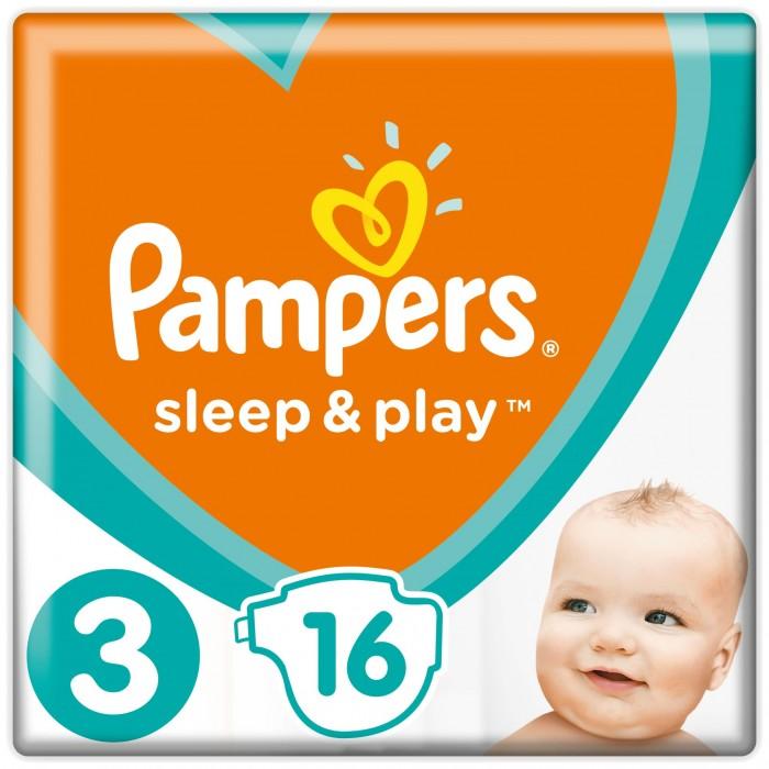 Pampers Подгузники Sleep & Play Стандарт р.3 (4-9 кг) 16 шт.