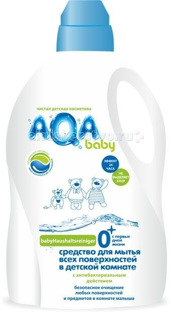 AQA baby Средство для мытья всех поверхностей в детской комнате 1 л