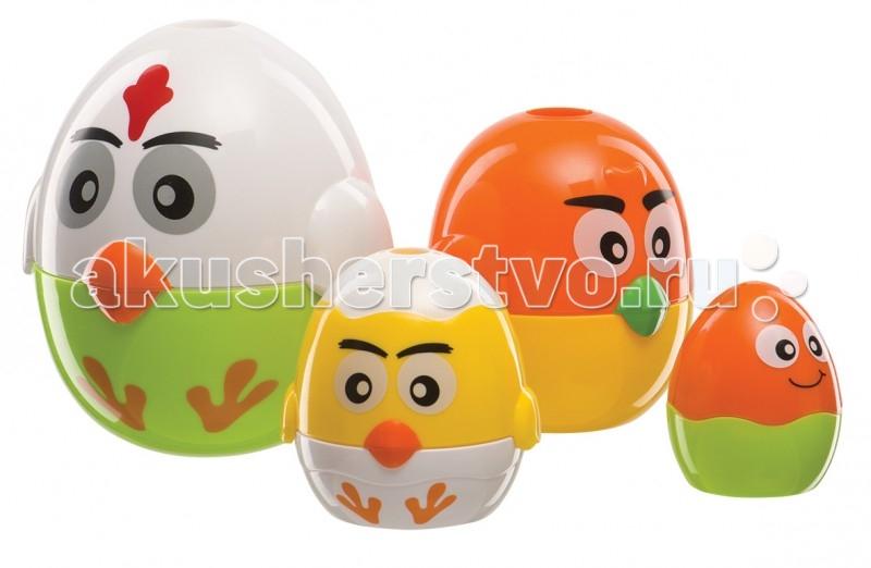 Развивающая игрушка Happy Baby Копилка-яйцо IQ-EggКопилка-яйцо IQ-EggКопилка-яйцо IQ-Egg — это не только развивающая, но и обучающая игрушка! Благодаря ей ребёнок научится понимать что больше, а что меньше, вкладывать одну фигурку в другую, собирать части в единое целое и, наоборот, разбирать целое на отдельные детали.   А ещё из них можно построить пирамидку, развивая мелкую моторику! Трёх самых больших по размеру цыплят можно использовать как копилки.   Эта игрушка прослужит вашему малышу долгое время, благодаря своей многофункциональности. Уникальный набор поможет развитию памяти, мышления, воображения, восприятия в процессе увлекательной игры с цыплятами.  3 в 1: пирамидка, копилка, складывается по принципу матрешки! 4 красочных цыплёнка Развивает память, мышление, воображение, восприятие<br>