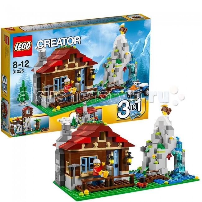Конструктор Lego Creator 31025 Лего Криэйтор Домик в горахCreator 31025 Лего Криэйтор Домик в горахКонструктор Lego Creator 31025 Лего Криэйтор Домик в горах собирается из 550 деталей.  Очутись в удаленном домике в горах с альпинистом, готовым к новым приключениям.  Открой створчатый домик и посмотри на крутой интерьер, включающий камин, стол и стулья. Затем выходи наружу и взбирайся на гору, заходи в пещеру в поисках спрятанных сокровищ или просто езжай на прогулку на классном квадроцикле.  Эта модель со множеством деталей трансформируется в наблюдательный пункт, находящийся на вершине горы, или небольшой домик – возможности игры безграничны!   В набор входит минифигурка исследователя.  Количество деталей: 550 шт.<br>