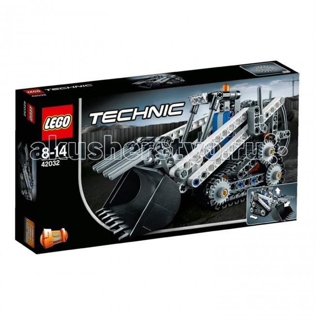 Конструктор Lego Technic 42032 Лего Техник Гусеничный погрузчикTechnic 42032 Лего Техник Гусеничный погрузчикКонструктор Lego Technic 42032 Лего Техник Гусеничный погрузчик собирается из 252 деталей.  Расчистите поверхность Гусеничным погрузчиком.  Эта надежная модель обладает всеми возможностями реальной машины, включая подвешенный сзади сложный механизм стрелы, который обеспечивает полный контроль над огромным ковшом и грейфер, дополнительные фары на крыше, предупредительный маячок, рычаг переключения передач и большие треугольные гусениц для повышения сцепления и маневренности на мягком грунте.  Потрясающая бело-серо-черная окраска добавляет завершающий штрих этой прекрасной модели!  Перестраивается в мощный снегоукладчик.  Возможности реальной машины. Управление ковшом с помощью специального механизма. Трансформируется в снегоукладчик. Количество деталей: 252 шт.<br>