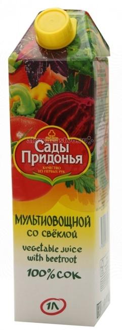 Сады Придонья Сок мультиовощной со свеклой и солью с 3 лет 1 л