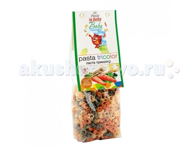 Pasta la Bella Baby Макароны Триколор с 18 мес. 250 г (фигурные)