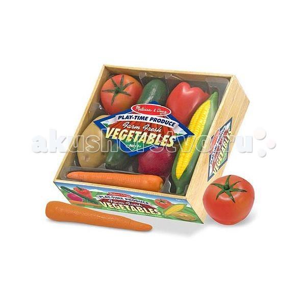 Деревянная игрушка Melissa & Doug Готовь и играй набор овощей