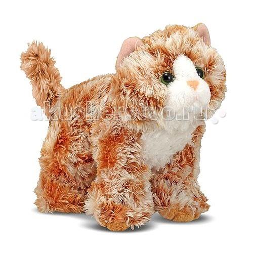 Мягкая игрушка Melissa &amp; Doug Рыжий кот Трикси 13 смРыжий кот Трикси 13 смМягкая игрушка Melissa & Doug Рыжий кот Трикси 13 см - этого забавного котенка, оранжевого цвета, зовут Трикси.   Котенок очень игривый, любит ласку и заботу. Может стать настоящим любимцем Вашего малыша. У него мягкая и пушистая шерстка, приятная на ощупь, и зеленые веселые глазки.   Трикси сразу хочется крепко обнять и прижать к себе. Она просто невероятно мягкая, пушистая и красивая кошечка. В котенка просто невозможно не влюбиться.   Игрушка легко стирается.<br>