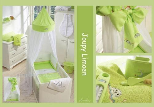Балдахин для кроватки Anel Joupy Limoen KlambooJoupy Limoen KlambooГолландская компания Anel была организована в Амстердаме в 1975 году. С первых коллекций компания специализировалась на производстве высококачественных постельных принадлежностей для детей. Современный дизайн и цвета постельного белья украсят комнату малыша и доставят удовольствие молодым родителям при оформлении детской комнаты.  Полог для кроватки Joupy Limoen Klamboo Anel создаст уютную обстановку, ваш ребенок будет укрыт великолепным балдахином от раздражающих воздействий и насладится волшебными сновидениями. Необычный купол полога создаст сказочную атмосферу.   Характеристики: изготовлен из высококачественного хлопка соответствие международным стандартам гипоаллергенные материалы крепится на штангу, регулируемую по высоте и устанавливаемую на пол можно стирать в стиральной машине<br>