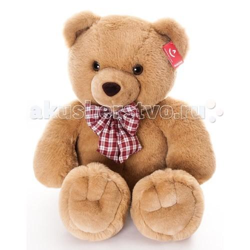 Мягкая игрушка Aurora Медведь с клетчатым бантом 80 см 11-415