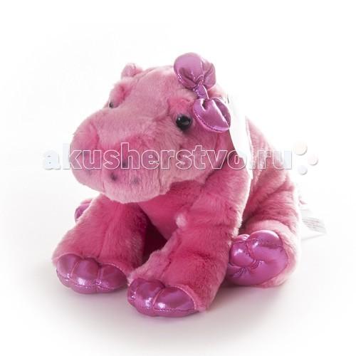 Мягкая игрушка Aurora Бегемот розовый 30 см 30-604