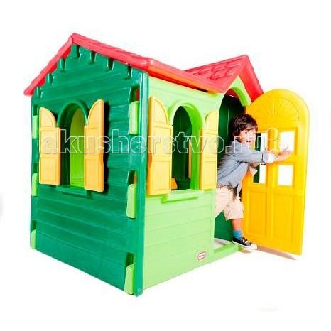 Игровой домик Little Tikes Дачный 440SДачный 440SОтличный игровой домик 440S от Little tikes для дачного участка. Полноразмерная дверь, ставни на всех окнах и множество аксессуаров внутри: телефон, раковина, кран и плита (варочная поверхность + выключатели).  Ставни и дверь легко отрываются и закрываются, ребенку нет необходимости прибегать к помощи взрослых.  При изготовлении домика применяется метод центробежного литья, что позволяет сделать его ударопрочным и устойчивым к перепадам температур.  Выдерживает температуру до -18C  Габаритные размеры собранного домика: 127 х 104 х 131 см  Большое количество аксессуаров внутри.<br>