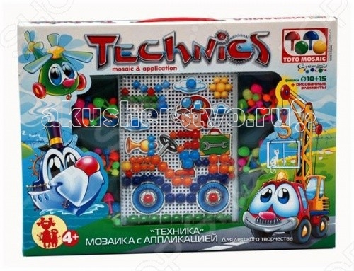 ToysUnion Мозаика С аппликацией техника