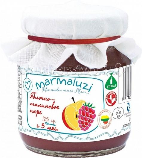 Marmaluzi Пюре яблочно-малиновое с 5 мес. 125 г