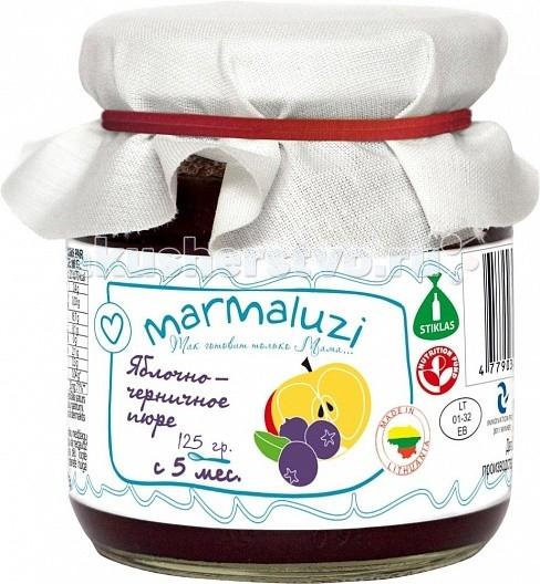 Marmaluzi Пюре яблочно-черничное с 5 мес. 125 г