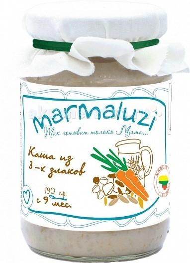 Marmaluzi Пюре каша из 3-х злаков с 9 мес. 190 г