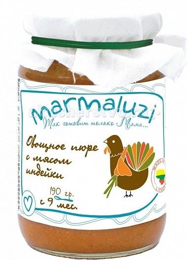 Marmaluzi Пюре овощное с мясом индейки с 9 мес. 190 г
