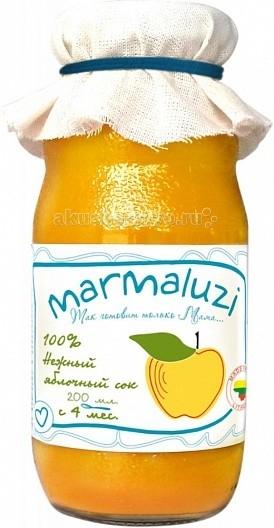 Marmaluzi Сок нежный яблочный с 4 мес. 200 мл