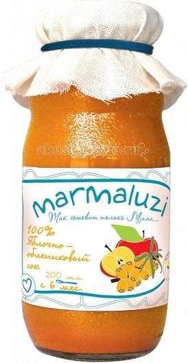 Marmaluzi Сок яблочно-облепиховый с 6 мес. 200 мл
