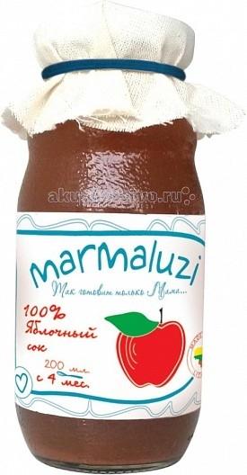 Marmaluzi Сок яблочный с 4 мес. 200 мл