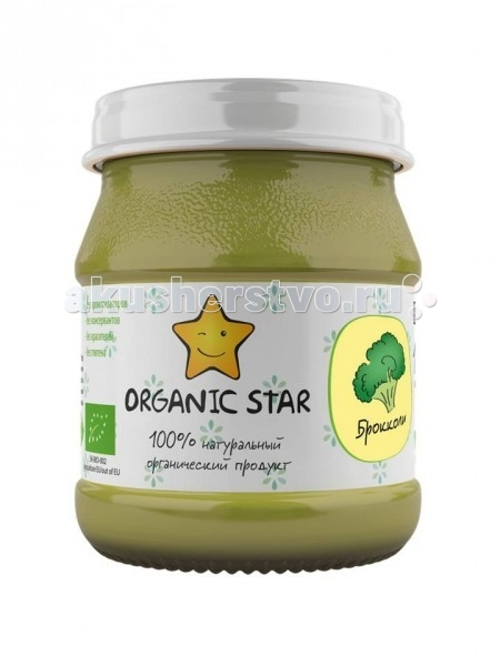 Organic Star Пюре Брокколи с 6 мес. 100 г