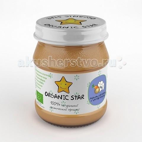 Organic Star Пюре Морковь с картофелем и цветной капустой с 6 мес. 100 г
