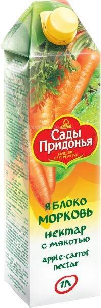 Сады Придонья Сок яблоко морковь с 3 лет 1 л