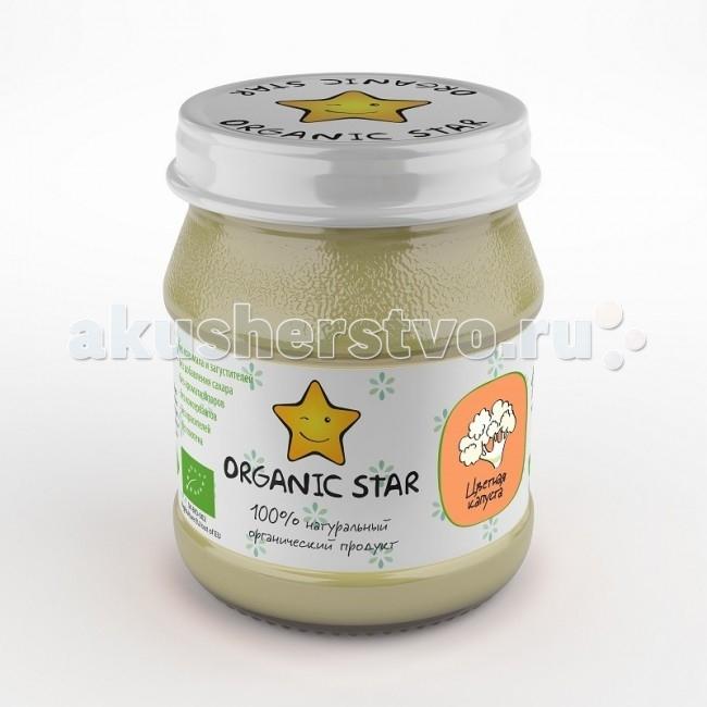 Organic Star Пюре Цветная капуста с 6 мес. 100 г