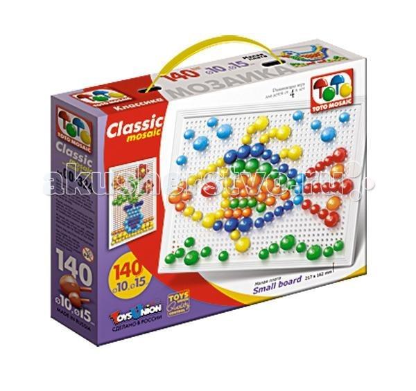 ToysUnion Мозаика Классика 140 элементов d. 10,15, малая плата