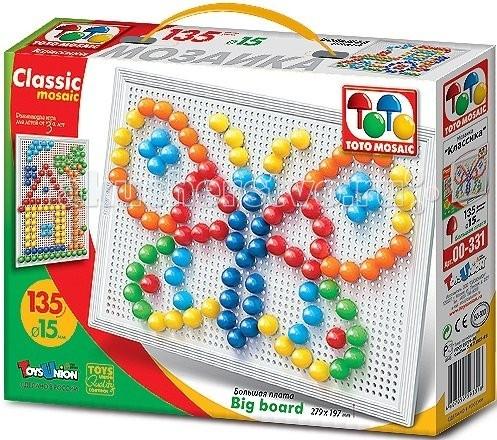 ToysUnion Мозаика Классика 135 элементов d. 15 большая плата