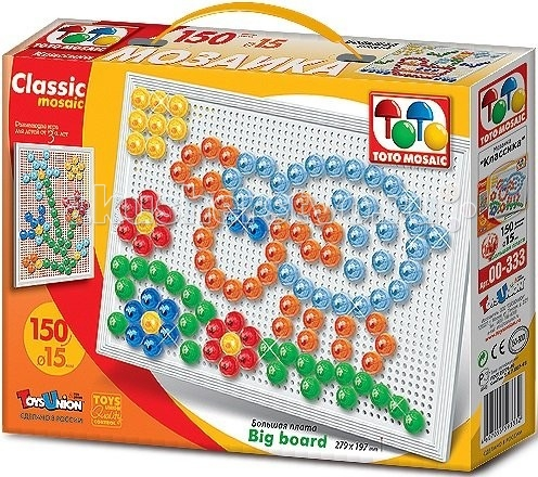 ToysUnion Мозаика CLASSIC MOSAIC На лужайке большая плата 1х10