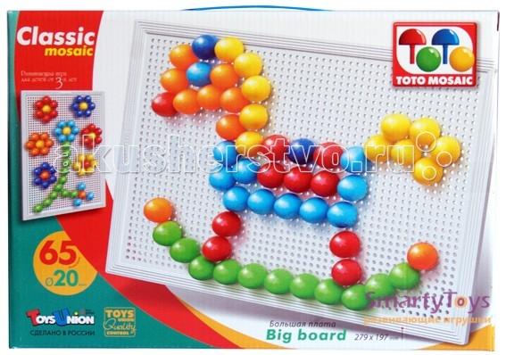 ToysUnion Мозаика Классика 65 элементов d. 20 большая плата