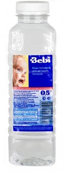 Вода Bebi Вода детская питьевая с 0 мес. 0.5 л