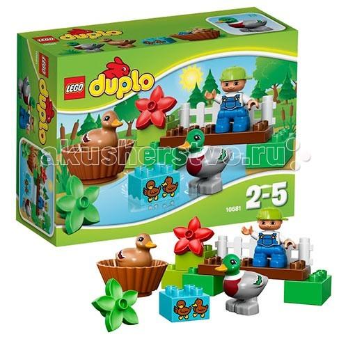 Конструктор Lego Duplo 10581 Лего Дупло Уточки в лесуDuplo 10581 Лего Дупло Уточки в лесуКонструктор Lego Duplo 10581 Лего Дупло Уточки в лесу  Отправляйтесь на прогулку по прекрасному лесу!  Постройте мост над речкой и наблюдайте, как мама-утка и папа-селезень играют вместе с утятами в воде!   Маленькие дети будут в восторге от этого набора LEGO DUPLO, который предлагает абсолютно новые лесные сюжеты для ролевой игры!  В набор входит фигурка ребёнка, утка и селезень.<br>