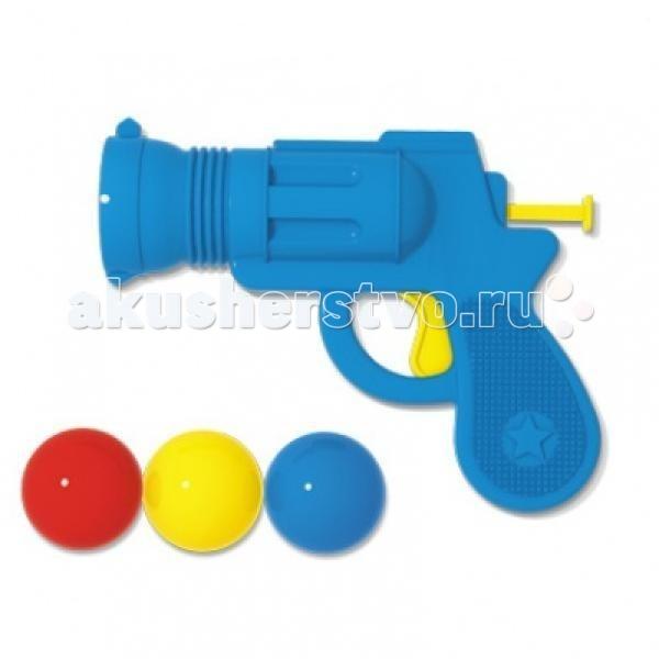 Стеллар Пистолетик игрушечный Маленький шерифПистолетик игрушечный Маленький шерифСтеллар Пистолетик игрушечный Маленький шериф - мощное оружие для детей от 3 лет! С помощью шарикомета можно устраивать веселые и безопасные войны на свежем воздухе, которые будут способствовать многостороннему развитию детей. В качестве снарядов используются шарики из вспененной резины, они абсолютно безобидные.   Игрушка сама очень практичная, не сломается и не подведет в ответственный момент. С помощью таких шарикометов можно проводить интересные конкурсы и соревнования на меткость, тренировать глазомер и меткость.<br>