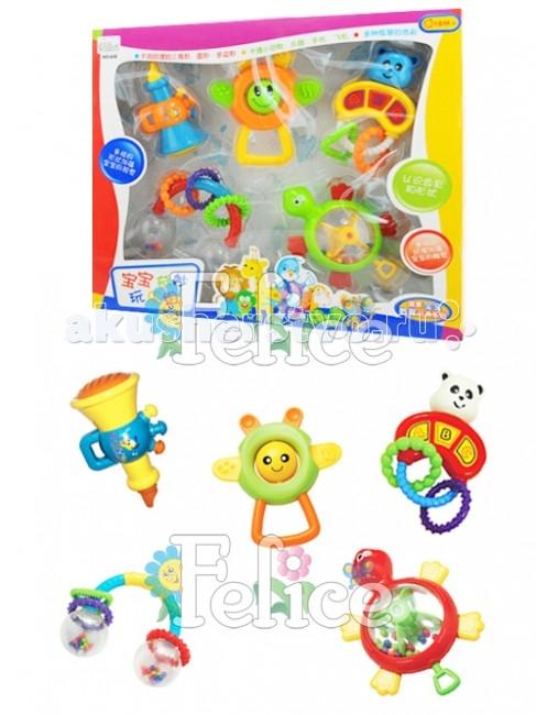 Погремушка Huile Toys Набор из 5 шт.Набор из 5 шт.Погремушка Huile Toys 5 шт. яркие, подвижные, развивают моторику, изучение цветов, форм у малышей.  Выполнены из экологически чистых и безопасных материалов.<br>