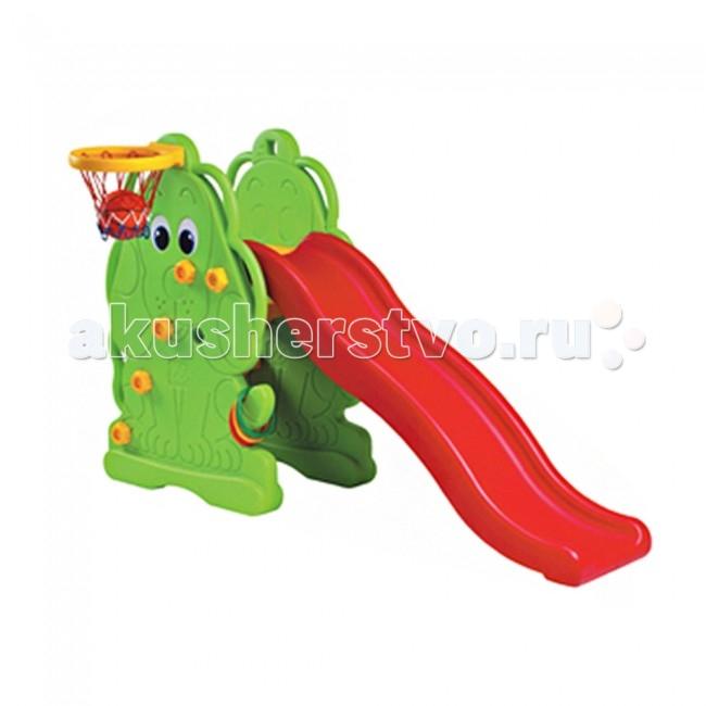Горка Edu-Play волнистая Щенокволнистая ЩенокДетская горка волнистая Щенок от компании Edu-Play устойчива и удобна. Благодаря качественному материалу и небольшим размерам она может использоваться как в помещении, так и на улице.  Детишки просто обожают горки! А горка с поверхностью в виде скользящей волны вызовет восторг у малышей и станет любимым местом для игры на свежем воздухе. Более того, горка идет с баскетбольной корзиной и мячом.  Именно для таких непосед среди продукции компании Edu-Play есть волнистая горка Щенок, устойчивая и надежная, она идеально подходит для летних забав в загородном доме.  Горка имеет удобную для малышей лесенку, состоящую из четырех ступеней. Длина поверхности скольжения - 146 см. Боковые стороны горки оформлены в виде милого щенка.  Горка изготовлена из прочного экологически чистого пластика, безопасного для людей, конструкция прочная и надежная, прослужит долгие годы.  Размер 175х48х111 см<br>